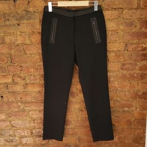Sandro pants with leather details